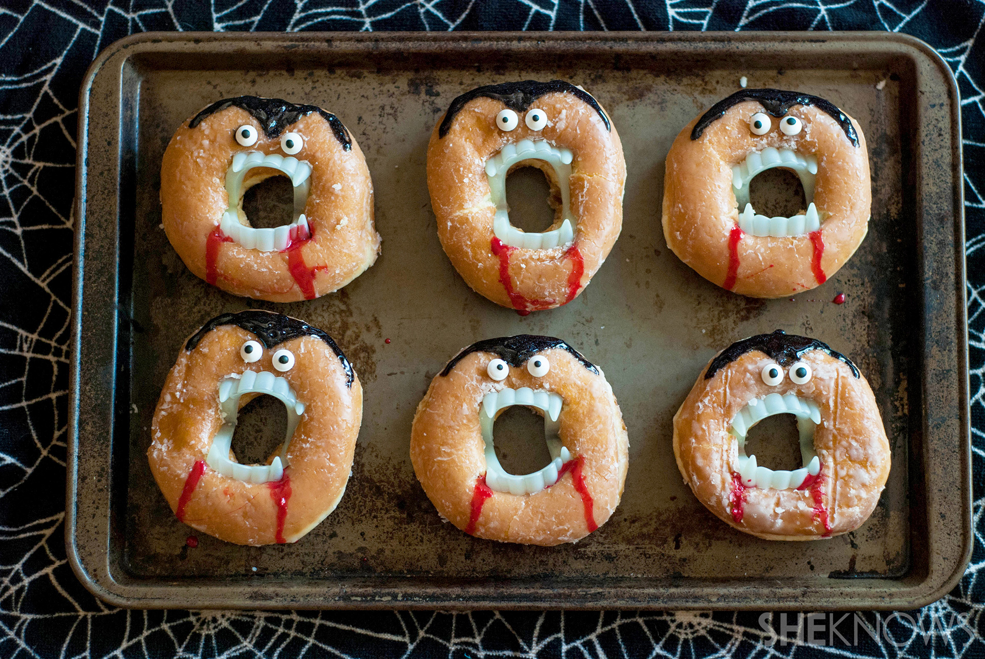Creepy vampire doughnuts recipe