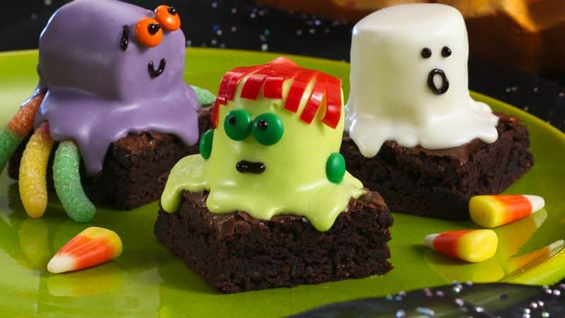 spooktacular fun and scrumptious eating are coming your way gather your goblins to share lots of baking tricks and treats spooky halloween brownies
