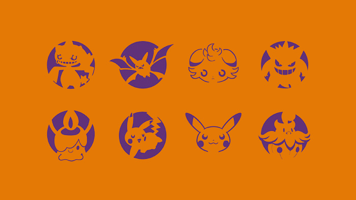 We got em pok mon pumpkin stencils special video inside for Pokemon jack o lantern template