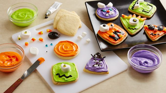Wacky Monster Halloween Cookies