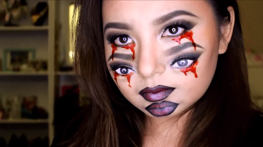 This Creepy Double-Eyes Makeup Transformation Will Freak Out Everyone You Know