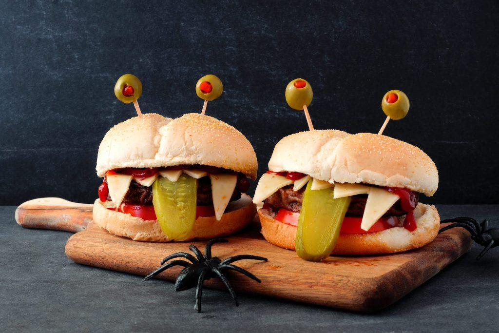 How to Make Halloween Monster Burgers Recipe!