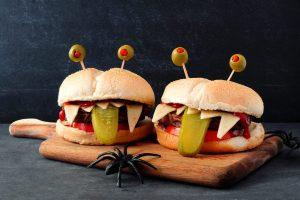 How to Make Halloween Monster Burgers!