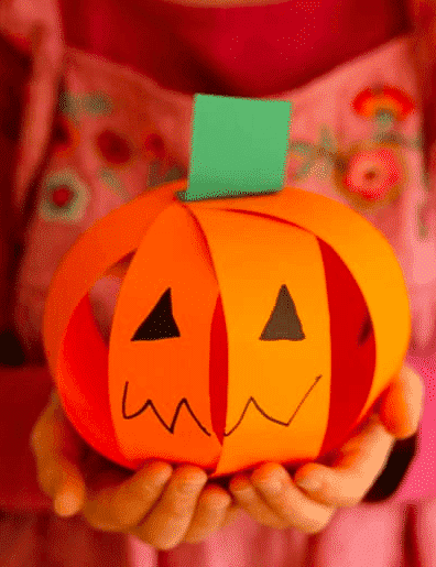 Kids will love making and decorating these paper pumpkins that give them a chance to practice their cutting skills. Parents will love how quick and easy the cleanup is.