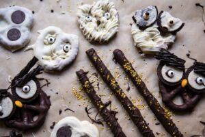 Scary Chocolate Covered Pretzels